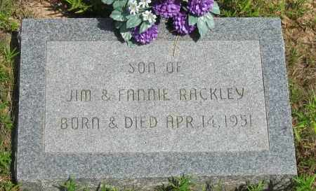 RACKLEY, INFANT SON - Pope County, Arkansas | INFANT SON RACKLEY - Arkansas Gravestone Photos