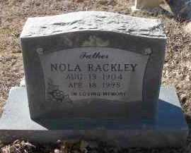 RACKLEY, NOLA - Pope County, Arkansas | NOLA RACKLEY - Arkansas Gravestone Photos
