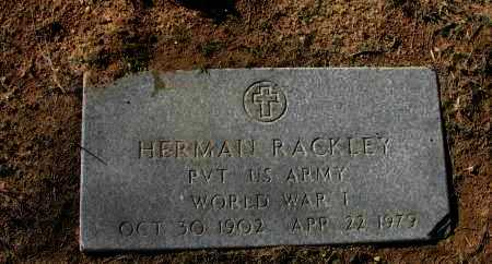 RACKLEY (VETERAN WWI), HERMAN - Pope County, Arkansas | HERMAN RACKLEY (VETERAN WWI) - Arkansas Gravestone Photos