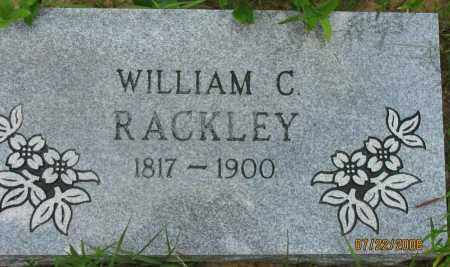 RACKLEY, WILLIAM CARROLL - Pope County, Arkansas | WILLIAM CARROLL RACKLEY - Arkansas Gravestone Photos