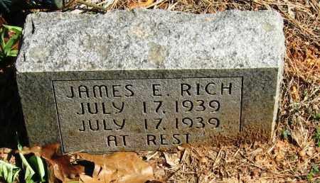 RICH, JAMES E - Pope County, Arkansas | JAMES E RICH - Arkansas Gravestone Photos