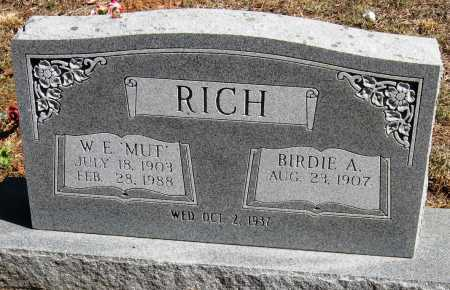 "RICH, W  E ""MUT"" - Pope County, Arkansas 