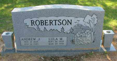 ROBERTSON, ANDREW J - Pope County, Arkansas | ANDREW J ROBERTSON - Arkansas Gravestone Photos
