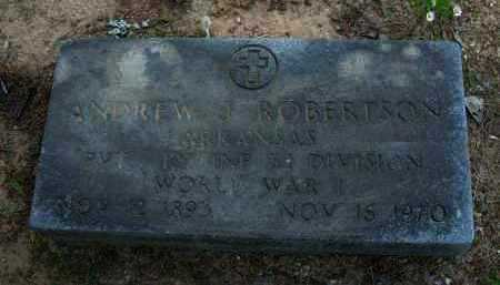 ROBERTSON (VETERAN WWI), ANDREW J. - Pope County, Arkansas | ANDREW J. ROBERTSON (VETERAN WWI) - Arkansas Gravestone Photos
