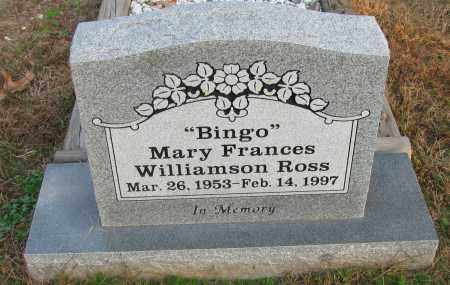 "ROSS, MARY FRANCES ""BING'O"" - Pope County, Arkansas 