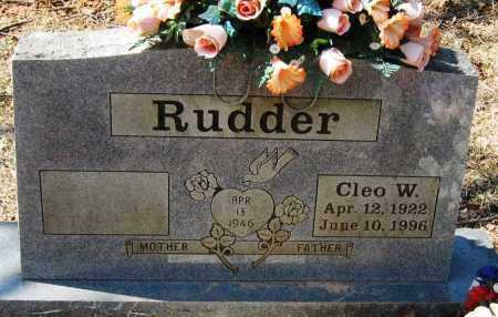 RUDDER, CLEO W - Pope County, Arkansas | CLEO W RUDDER - Arkansas Gravestone Photos