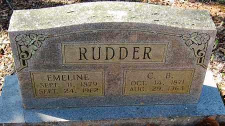 RUDDER, EMELINE - Pope County, Arkansas | EMELINE RUDDER - Arkansas Gravestone Photos