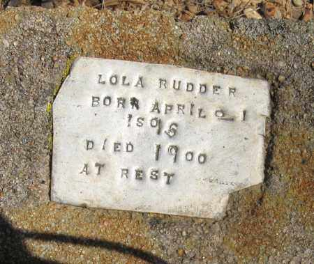 RUDDER, LOLA - Pope County, Arkansas | LOLA RUDDER - Arkansas Gravestone Photos