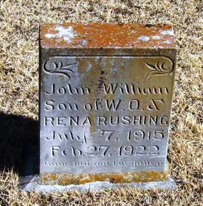RUSHING, JOHN WILLIAM - Pope County, Arkansas | JOHN WILLIAM RUSHING - Arkansas Gravestone Photos
