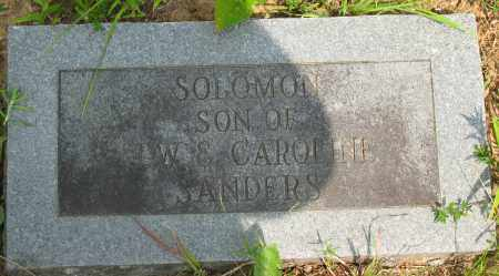 SANDERS, SOLOMON - Pope County, Arkansas | SOLOMON SANDERS - Arkansas Gravestone Photos