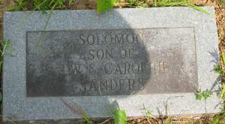 SANDERS, SOLOMON - Pope County, Arkansas | SOLOMON SANDERS - Arkansas Gravestone Photos