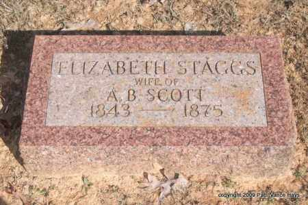 STAGGS SCOTT, ELIZABETH - Pope County, Arkansas | ELIZABETH STAGGS SCOTT - Arkansas Gravestone Photos