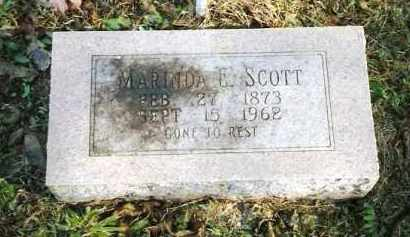 SCOTT, MARINDA E - Pope County, Arkansas | MARINDA E SCOTT - Arkansas Gravestone Photos