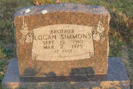 SIMMONS, LOGAN - Pope County, Arkansas | LOGAN SIMMONS - Arkansas Gravestone Photos