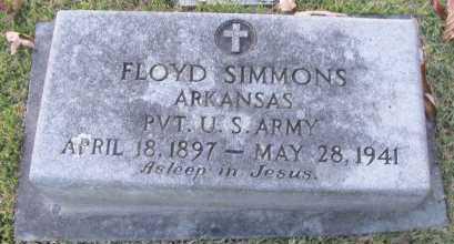 SIMMONS (VETERAN), FLOYD - Pope County, Arkansas   FLOYD SIMMONS (VETERAN) - Arkansas Gravestone Photos