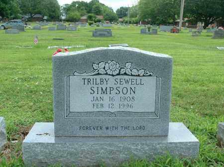 SIMPSON, TRILBY VIOLET - Pope County, Arkansas | TRILBY VIOLET SIMPSON - Arkansas Gravestone Photos