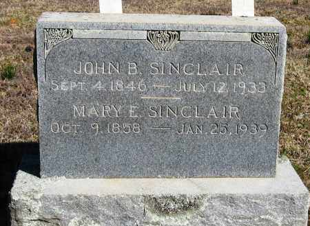 SINCLAIR, JOHN B - Pope County, Arkansas | JOHN B SINCLAIR - Arkansas Gravestone Photos