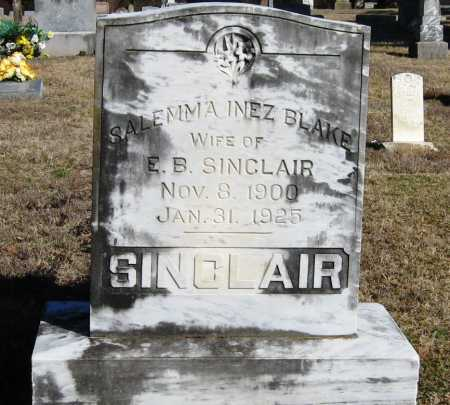 BLAKE SINCLAIR, SALEMMA INEZ - Pope County, Arkansas | SALEMMA INEZ BLAKE SINCLAIR - Arkansas Gravestone Photos