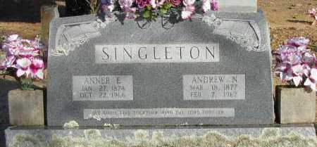 SINGLETON, ANNER E - Pope County, Arkansas | ANNER E SINGLETON - Arkansas Gravestone Photos
