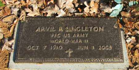 SINGLETON (VETERAN WWII), ARVIL R - Pope County, Arkansas | ARVIL R SINGLETON (VETERAN WWII) - Arkansas Gravestone Photos