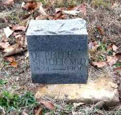 SNIDER, DR. PETER - Pope County, Arkansas | DR. PETER SNIDER - Arkansas Gravestone Photos