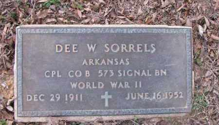SORRELS (VETERAN WWII), DEE W - Pope County, Arkansas | DEE W SORRELS (VETERAN WWII) - Arkansas Gravestone Photos