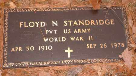 STANDRIDGE  (VETERAN WWII), FLOYD N - Pope County, Arkansas | FLOYD N STANDRIDGE  (VETERAN WWII) - Arkansas Gravestone Photos