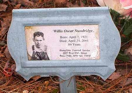 STANDRIDGE, WILLIS OSCAR - Pope County, Arkansas | WILLIS OSCAR STANDRIDGE - Arkansas Gravestone Photos