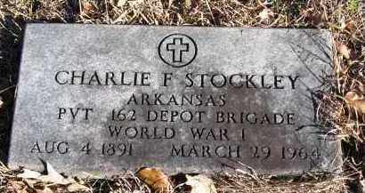 STOCKLEY  (VETERAN WWI), CHARLIE F - Pope County, Arkansas | CHARLIE F STOCKLEY  (VETERAN WWI) - Arkansas Gravestone Photos