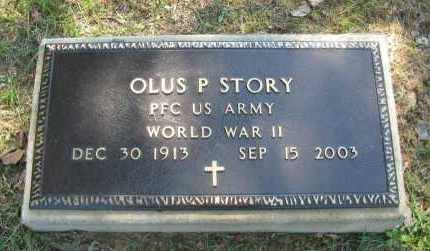 STORY (VETERAN WWII), OLUS P - Pope County, Arkansas | OLUS P STORY (VETERAN WWII) - Arkansas Gravestone Photos