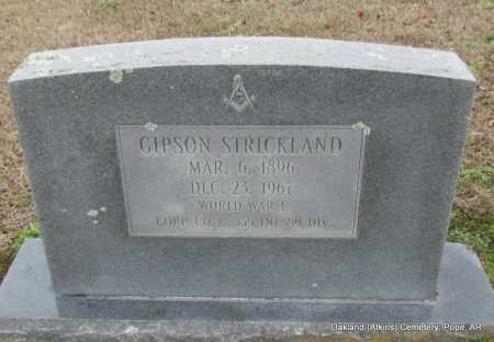 STRICKLAND (VETERAN WWI), GIPSON - Pope County, Arkansas | GIPSON STRICKLAND (VETERAN WWI) - Arkansas Gravestone Photos