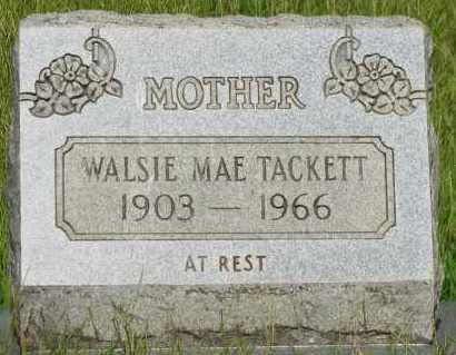 TACKETT, WALSIE MAE - Pope County, Arkansas | WALSIE MAE TACKETT - Arkansas Gravestone Photos