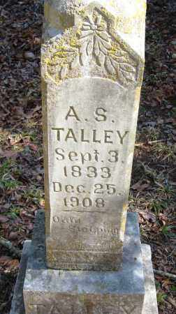 TALLEY, A  S - Pope County, Arkansas   A  S TALLEY - Arkansas Gravestone Photos