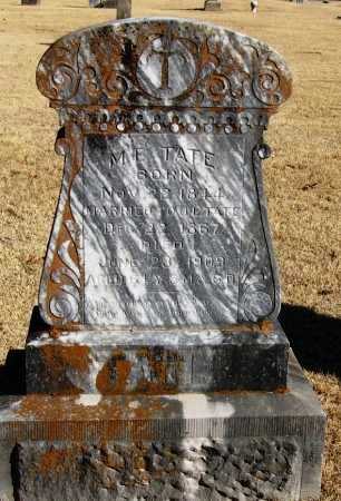 TATE, M  E - Pope County, Arkansas | M  E TATE - Arkansas Gravestone Photos