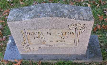TAYLOR, DOCIA M - Pope County, Arkansas | DOCIA M TAYLOR - Arkansas Gravestone Photos