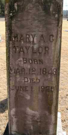 TAYLOR, MARY A C - Pope County, Arkansas | MARY A C TAYLOR - Arkansas Gravestone Photos