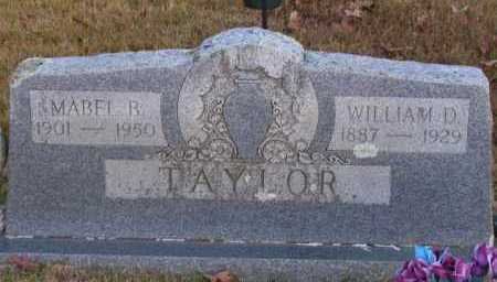 TAYLOR, WILLIAM D - Pope County, Arkansas | WILLIAM D TAYLOR - Arkansas Gravestone Photos