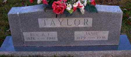 TAYLOR, JANIE - Pope County, Arkansas | JANIE TAYLOR - Arkansas Gravestone Photos