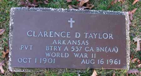 TAYLOR (VETERAN WWII), CLARENCE D - Pope County, Arkansas | CLARENCE D TAYLOR (VETERAN WWII) - Arkansas Gravestone Photos