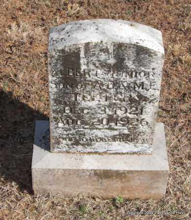TEETER, ALBERT JUNIOR - Pope County, Arkansas | ALBERT JUNIOR TEETER - Arkansas Gravestone Photos