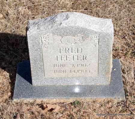 TEETER, FRED - Pope County, Arkansas | FRED TEETER - Arkansas Gravestone Photos