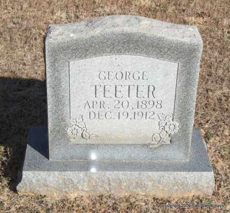 TEETER, GEORGE - Pope County, Arkansas | GEORGE TEETER - Arkansas Gravestone Photos