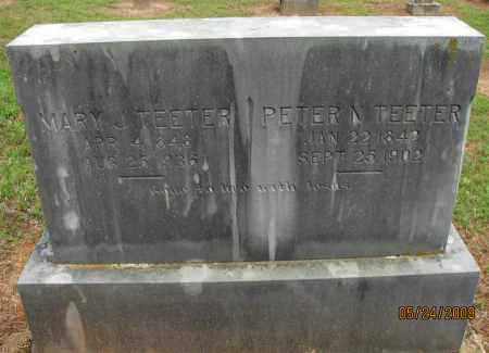TEETER, PETER N - Pope County, Arkansas | PETER N TEETER - Arkansas Gravestone Photos