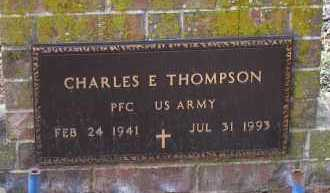 THOMPSON (VETERAN), CHARLES E - Pope County, Arkansas | CHARLES E THOMPSON (VETERAN) - Arkansas Gravestone Photos