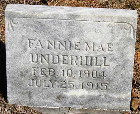 UNDERHILL, FANNIE MAE - Pope County, Arkansas | FANNIE MAE UNDERHILL - Arkansas Gravestone Photos