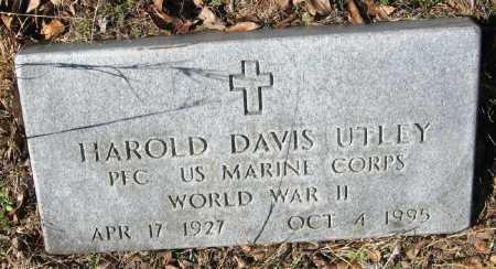 UTLEY  (VETERAN WWII), HAROLD DAVIS - Pope County, Arkansas | HAROLD DAVIS UTLEY  (VETERAN WWII) - Arkansas Gravestone Photos