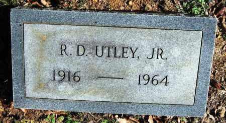 UTLEY, JR., R. D. - Pope County, Arkansas   R. D. UTLEY, JR. - Arkansas Gravestone Photos