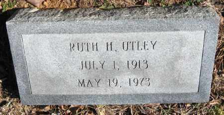 UTLEY, RUTH H - Pope County, Arkansas | RUTH H UTLEY - Arkansas Gravestone Photos