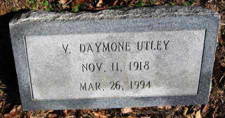 UTLEY, V DAYMONE - Pope County, Arkansas | V DAYMONE UTLEY - Arkansas Gravestone Photos
