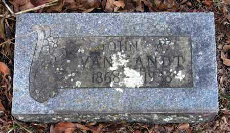 VAN ZANDT, JOHN A. - Pope County, Arkansas | JOHN A. VAN ZANDT - Arkansas Gravestone Photos